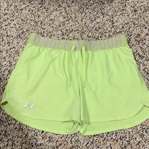 Neon Under Armour shorts!
